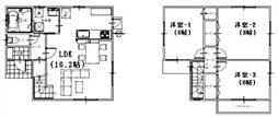 [一戸建] 愛媛県松山市祝谷4丁目 の賃貸【/】の間取り
