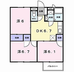 サンパーク篠崎[2階]の間取り