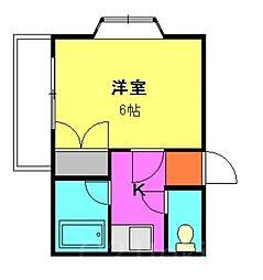 TERU朝霞台[3階]の間取り