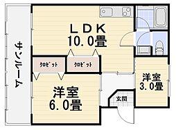 北島マンション[303号室号室]の間取り