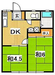 関山ハイツ[103号室]の間取り