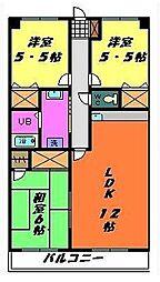 リアルジョイ薬園台弐番館[302号室]の間取り