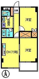 第3ウツイビル[3階]の間取り