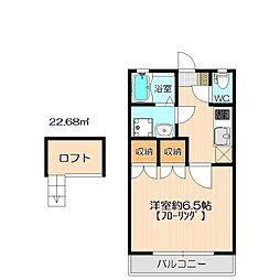 ダム・ド・香椎参番館[2階]の間取り