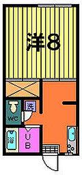 第二稲荷山ハイツAB[A-1-A号室]の間取り