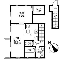 旭区南希望が丘 コンフォート南希望ヶ丘201号室[2階]の間取り