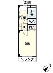エスペラール鴻ノ池[1階]の間取り