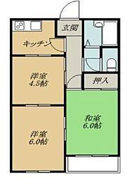 カーサ君塚[2階]の間取り