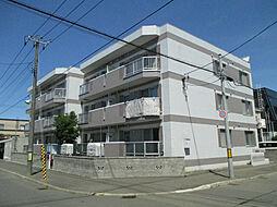 北海道札幌市東区北四十条東9丁目の賃貸マンションの外観