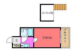メゾン寺田[203号室]の間取り