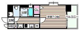 ジュネーゼグラン福島ミラージュ[5階]の間取り