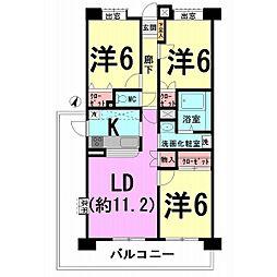 アイランドマンションII[0807号室]の間取り