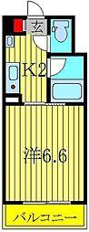 パルテール江戸川台[220号室]の間取り