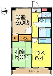 日宝コートヒルズ洋光台2[4階]の間取り