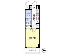 JR成田線 成田駅 バス5分 ボンベルタ下車 徒歩1分の賃貸マンション 3階1Kの間取り