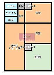 神奈川県横浜市南区永田東1丁目の賃貸マンションの間取り