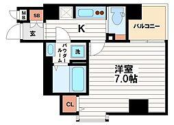 フォーチュン心斎橋EAST[3階]の間取り