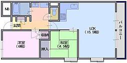 東川ビル[402号室]の間取り