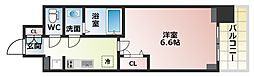 Osaka Metro谷町線 四天王寺前夕陽ヶ丘駅 徒歩6分の賃貸マンション 11階1Kの間取り