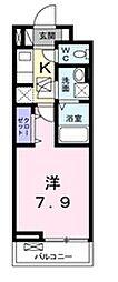 栃木県宇都宮市松が峰2丁目の賃貸アパートの間取り