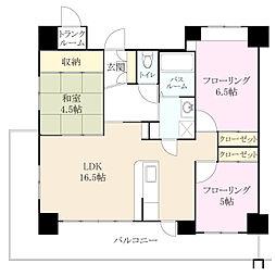 クラシオン小笹山手 3番館[5階]の間取り