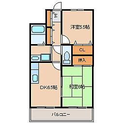エッセ尼崎南[4階]の間取り