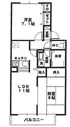ジュネス武庫之荘III[B212号室]の間取り