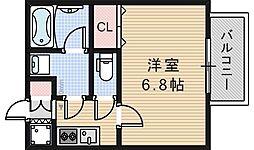 マメゾン阿倍野[205号室]の間取り