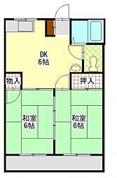 メゾンシマネ[2階]の間取り