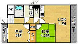 レオ住之江公園[8階]の間取り