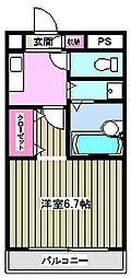 西河マンション[3階]の間取り
