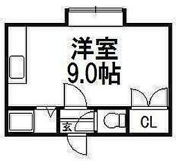 北海道札幌市豊平区平岸四条12丁目の賃貸アパートの間取り