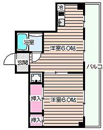 ビガーポリス132マーブルハウス[7階]の間取り