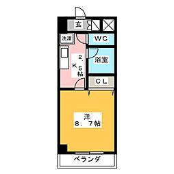 ルミエール青山VI[4階]の間取り