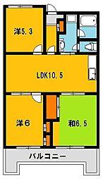 753マンション[602号室]の間取り