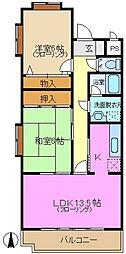 神奈川県横浜市緑区東本郷4丁目の賃貸マンションの間取り