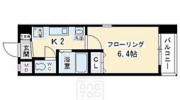 エイペックス京都新京極1[4階]の間取り