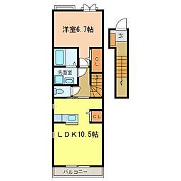 サン・フェリスタⅤ[2階]の間取り