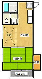 アルカディア東栄町[1階]の間取り