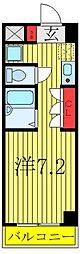 レガーロ西川口駅前 5階ワンルームの間取り