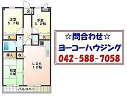 東京都あきる野市平沢東1丁目の賃貸マンションの間取り