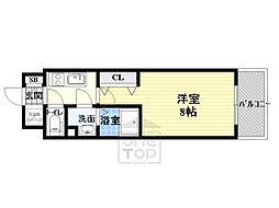 サムティ都島高倉町 3階1Kの間取り