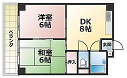 ルーチェ長田[2階]の間取り