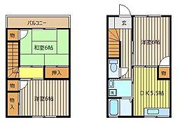 [テラスハウス] 埼玉県志木市本町4丁目 の賃貸【/】の間取り