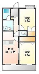 静岡県静岡市葵区柳町の賃貸マンションの間取り