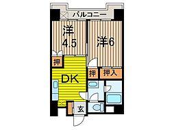 星野ビル わらびフィールドスターマンション[6階]の間取り