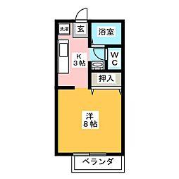 M・NハイツA棟[2階]の間取り