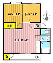 富士見町住宅[28-102号室]の間取り