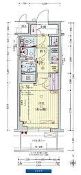 プレサンス新大阪ストリーム 12階1Kの間取り