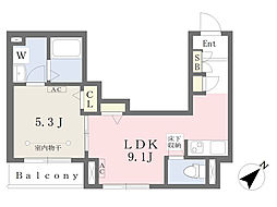 東京メトロ副都心線 池袋駅 徒歩12分の賃貸マンション 1階1LDKの間取り